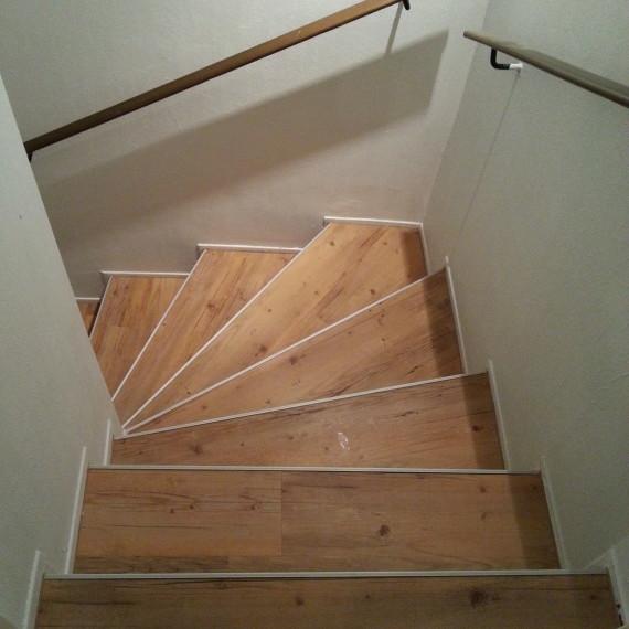 Treppensanierung mit Vinylbelag
