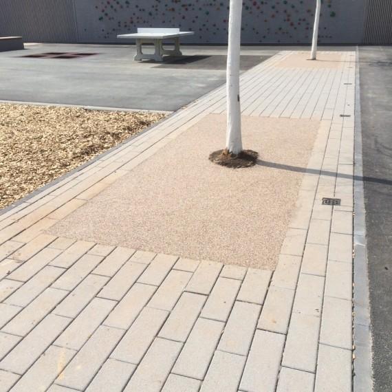 Natursteinteppich im Außenbereich